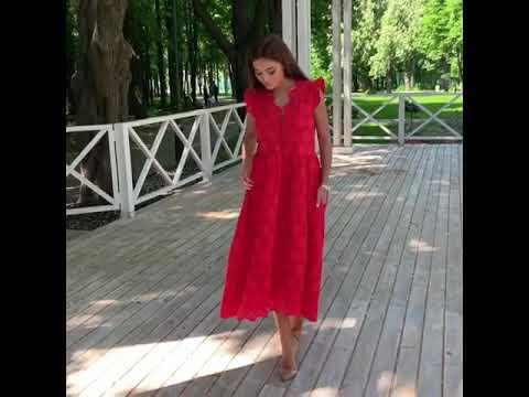 🌈 Начни лето ярко! Заказывай нашу новинку - красное платье из прошвы! Modnica-shop
