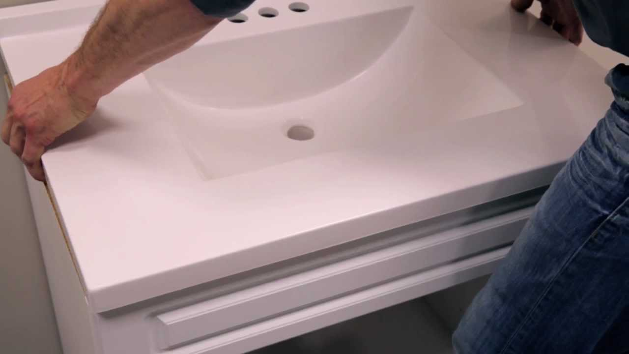 RONA   How To Install A Bathroom Vanity   YouTube