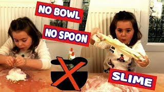 NO BOWL NO SPOON SLIME CHALLENGE