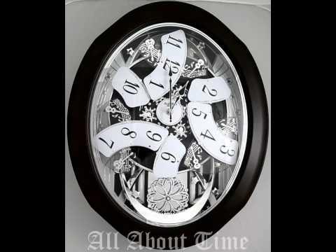 Rhythm Anthology Espresso Musical Clock