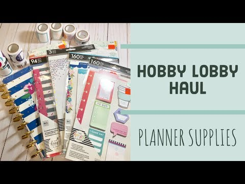 Hobby Lobby Haul | Planner Supplies