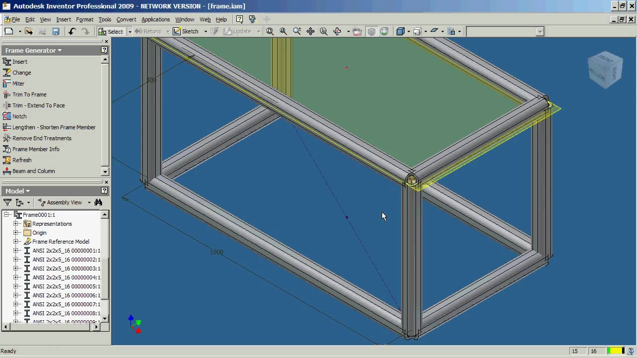 Autodesk Inventor Frame Generator Part 1 Youtube