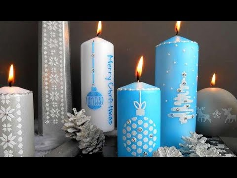 Modele De Decoration De Noel A Faire Soi Meme.Diy Decoration De Noel Bougies