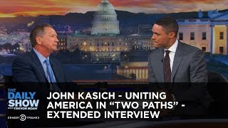 "John Kasich - Uniting America in ""Two Paths"" - Extended Interview: The Daily Show"