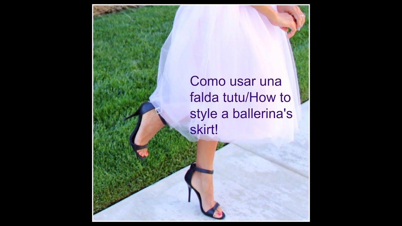 2f5ac7782 Como usar usa falda TUTU/ Styling a ballerina's skirt!