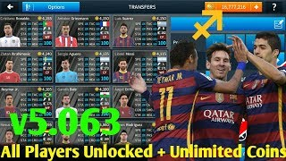DREAM LEAGUE SOCCER 18 HACK MOD APK v5.063 ( All players Unlock with Unlimited Coins)