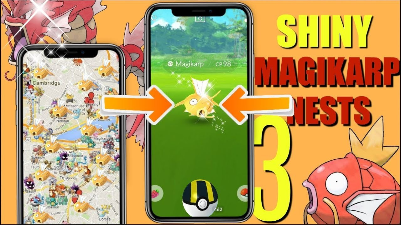Top 3 Best Shiny Magikarp Nests in Pokemon GO COORDINATES! 2019