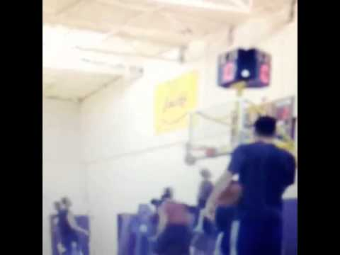 Gilbert Arenas schools Steve Blake during scrimmage at Lakers practice facility