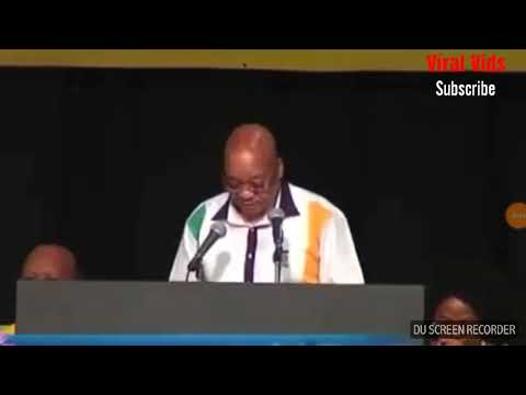 "South African president Jecob Zuma tries to say ""IN THE BEGINNING"" very funny"
