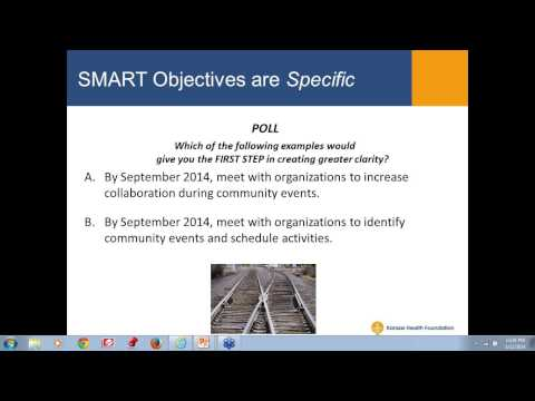 Developing Annual Plans and Benchmarks Using SMART Objectives