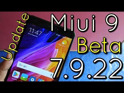 Miui 9 Update 7.9.22  Beta Developer Features & Fixes   Hindi - हिंदी
