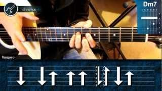 """Cómo tocar """"Mi Historia Entre tus Dedos"""" de Gianluca en Guitarra (HD) Tutorial - Christianvib"""