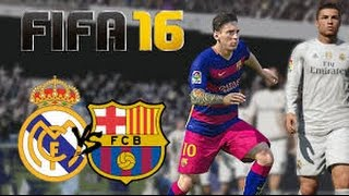 FIFA 16   Real Madrid vs Barcelona Max Settings Gameplay