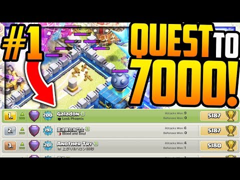 TOP GLOBAL! Quest to 7000 Trophies in Clash of Clans! Episode #1!