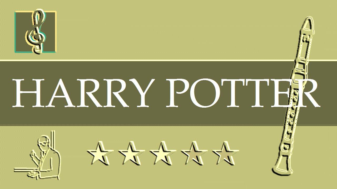 recorder notes tutorial - harry potter