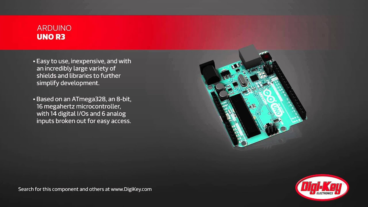 Arduino uno r product overview digi key daily youtube