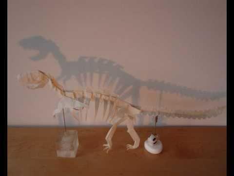 Origami Tyrannosaurus Rex Skeleton By Issei Yoshino