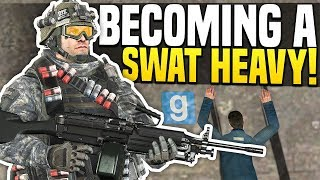 BECOMING A SWAT HEAVY - Gmod DarkRP | One Man Army!