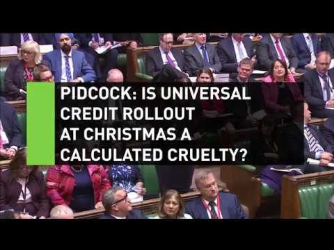 Pidcock: Christmas Universal Credit rollout calculated cruelty?