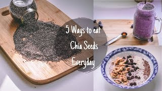 ദവസവ Chia Seeds കഴകകനളള 5 വഴകൾ I ശരരഭര കറയകകൻ Chia Seeds Recipes I Malayalam