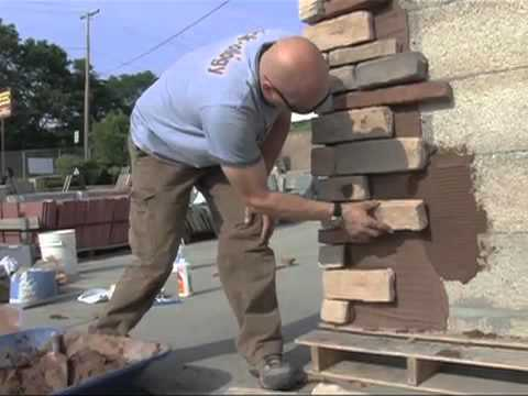 Do it yourself video creating stone work with veneer or for How to install stone veneer over stucco