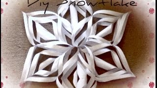 DIY Christmas Decorations❄Christmas Snowflake | Haley & Bronwen