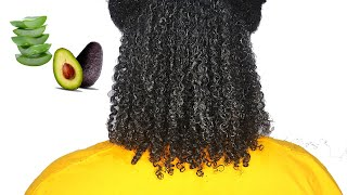 DIY Hair Mask Ep 2 Aloe Vera Avocado For dry frizzy slow growth natural hair