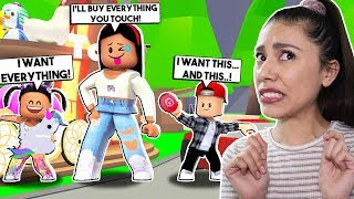 BUYING EVERYTHING MY KIDS TOUCHED! * THEY SPENT ALL MY ROBUX * - Roblox - Adopt Me