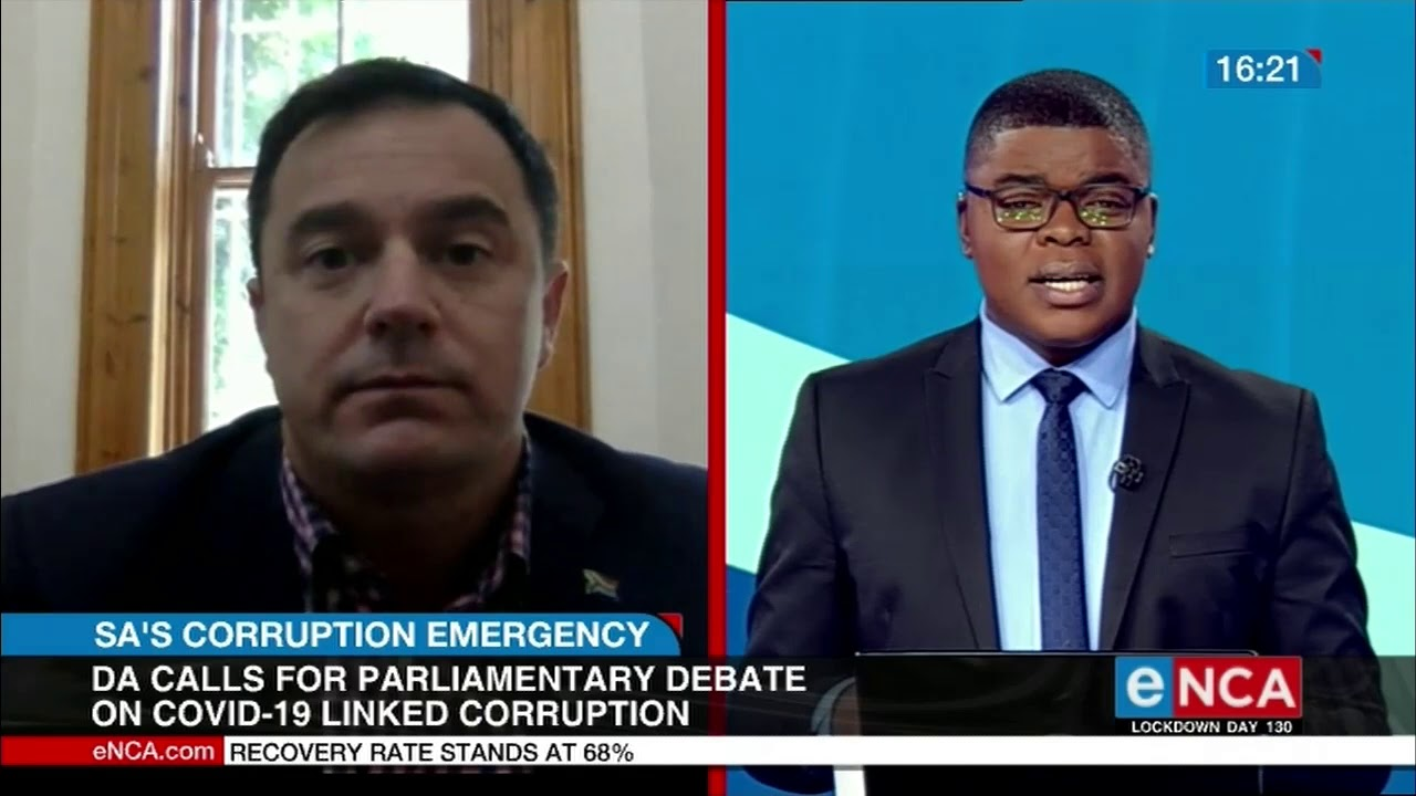 DA calls for Parliamentary debate on COVID-19 related corruption - eNCA