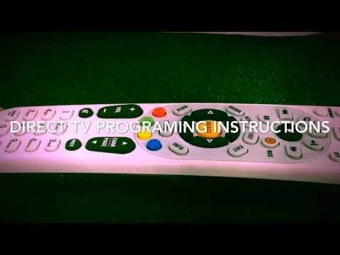 DIRECT TV REMOTE CONTROLL PROGRAMING INSTRUCTIONS