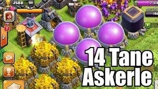 14 ASKERLE TÜM GANİMETİMİ ÇALDI - Clash of Clans