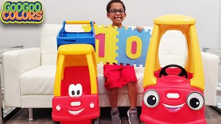 Gaga Baby Turn Car Into Shopping Cart  Learn To Count To 10 With Goo Goo Gaga & More