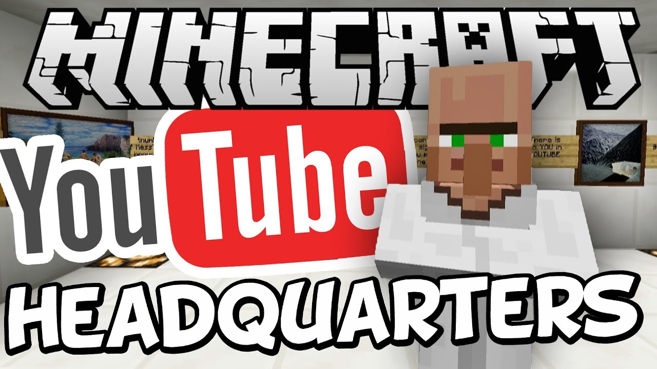 YouTube Headquarters Tour In Minecraft ! (Meanwhile...at