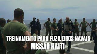 Erasmo Gomes  Treinamento para fuzileiros navais missão Haiti