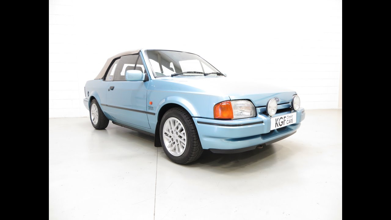 collectors ford escort xr3i cabriolet special edition two owners rh youtube com 1989 Ford Fiesta 1989 Ford Tempo