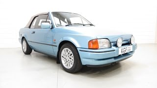 Collectors Ford Escort XR3i Cabriolet Special Edition, Two owners, 36,388 Miles, Ford History SOLD!
