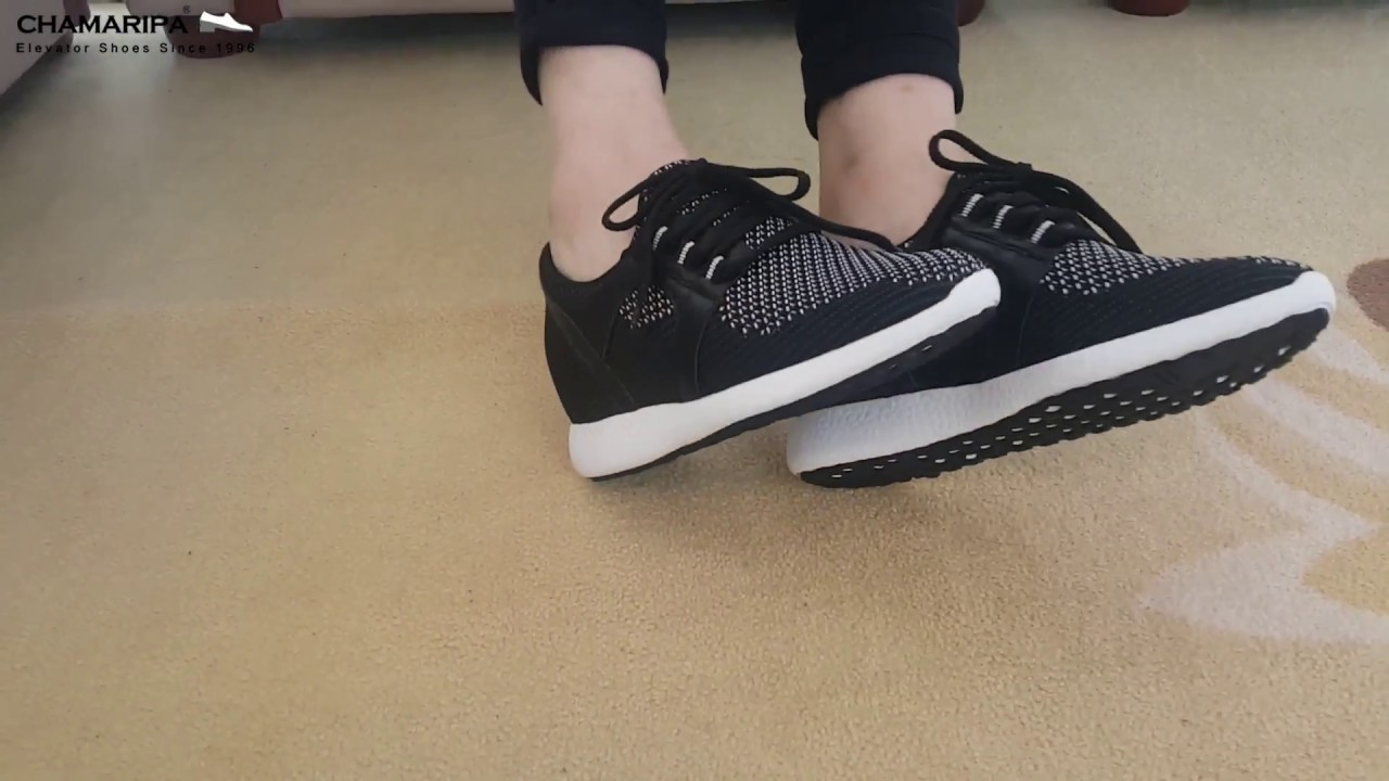 b0b43704f2f Women Hidden High Heel Sneaker Height Increase Shoes 2.76 Inches Taller