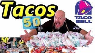 50 TACO BELL TACOS vs Raina Huang - 9 lbs of tacos #BattleRaina #RainaIsCrazy