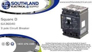 square d gjl36040 40 amp 600y 347 volt powerpact 3 pole circuit breaker