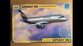Сборка модели авиалайнера Sukhoi Superjet 100 , масштаб 1144