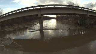 Flying around and under the Chariton River Bridge