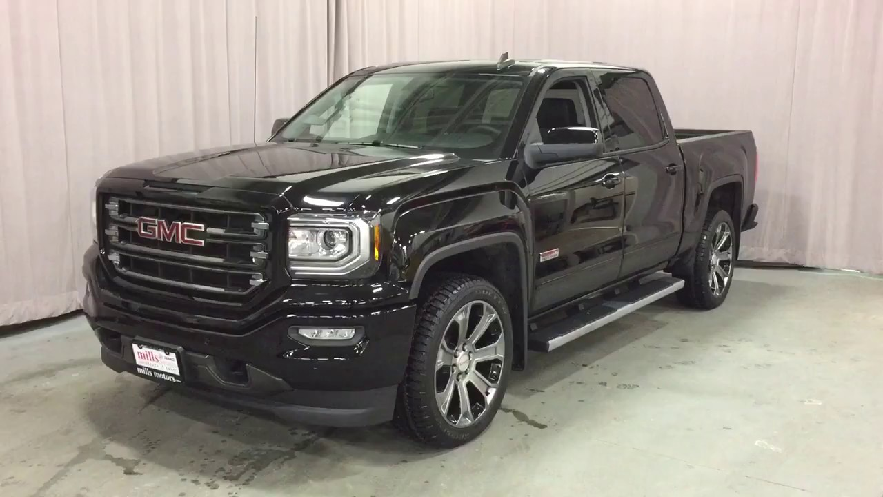 2017 Gmc Sierra 1500 4wd Slt Crew Cab All Terrain Edition Black Oshawa On Stock 170669 You