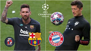 LA PREVIA ¿Barcelona vs Bayern Munich o Messi vs Lewandowski? UEFA Champions League | Fuera de Juego