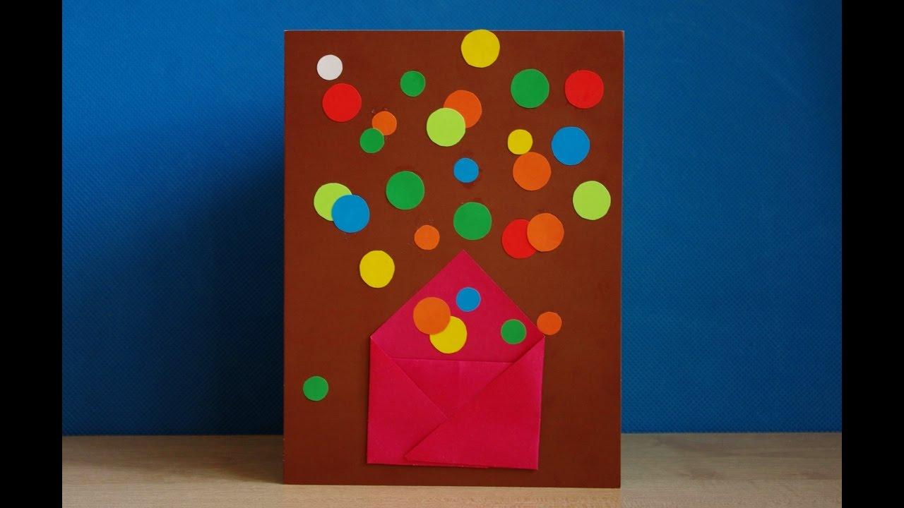 Букетом цветов, открытка с днем рождения руками детей из бумаги для детей видео
