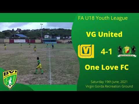 FA U18 Youth League, VG Utd  4 - 1 One Love FC, Saturday 19th June, 2021 at VG Recreation Ground