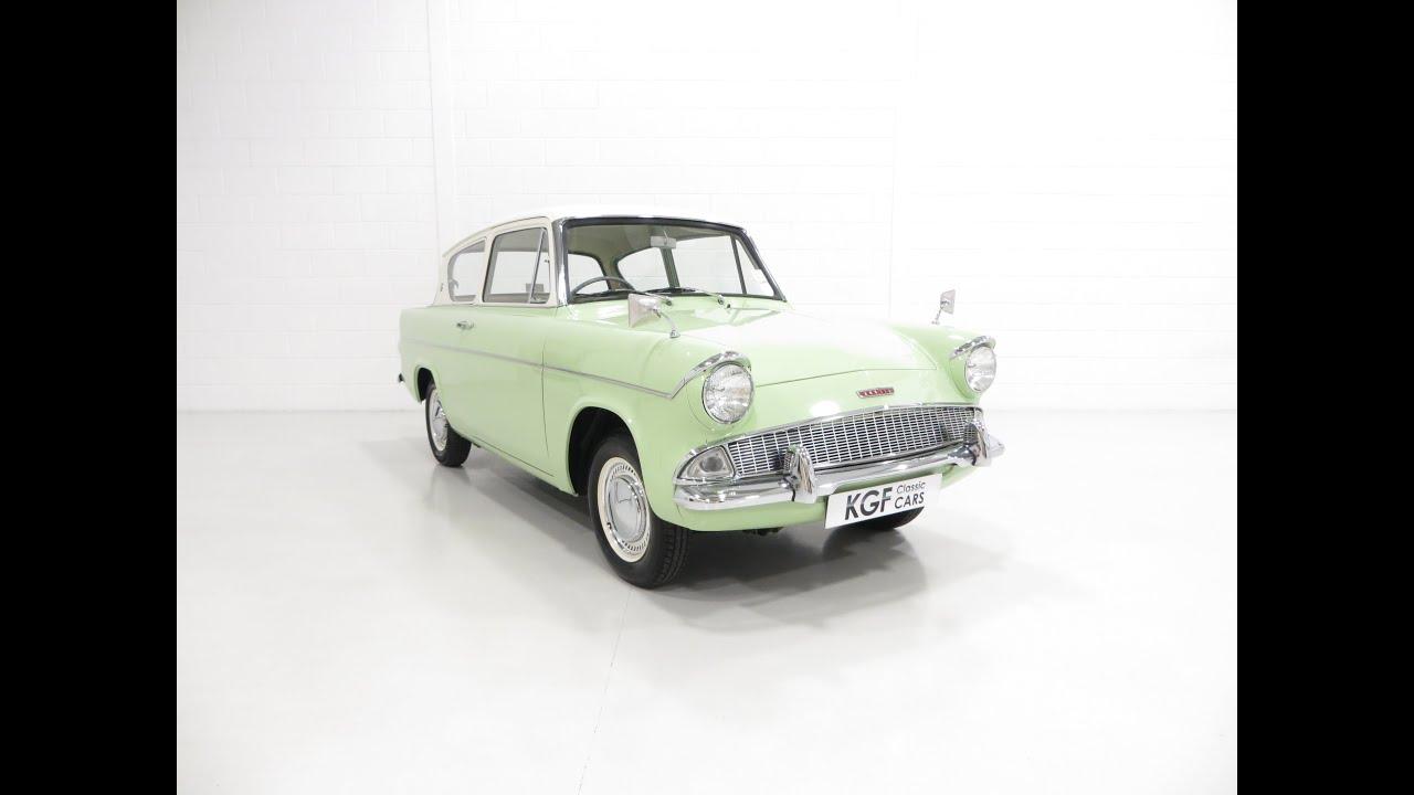 A Swinging 1960's Ford Anglia 105E Deluxe in Phenomenal Condition - SOLD!