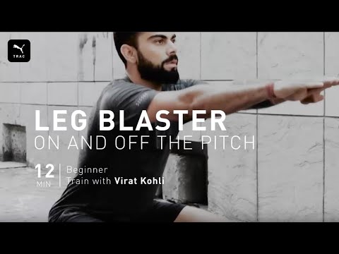 Leg Blaster 12 Minute At Home HIIT Workout with Virat Kohli | PUMATRAC