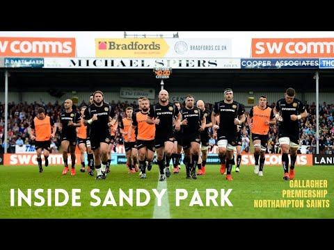 Inside Sandy Park - Northampton