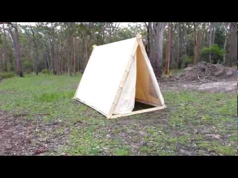 Video viking a frame tent for Homemade wall tent frame