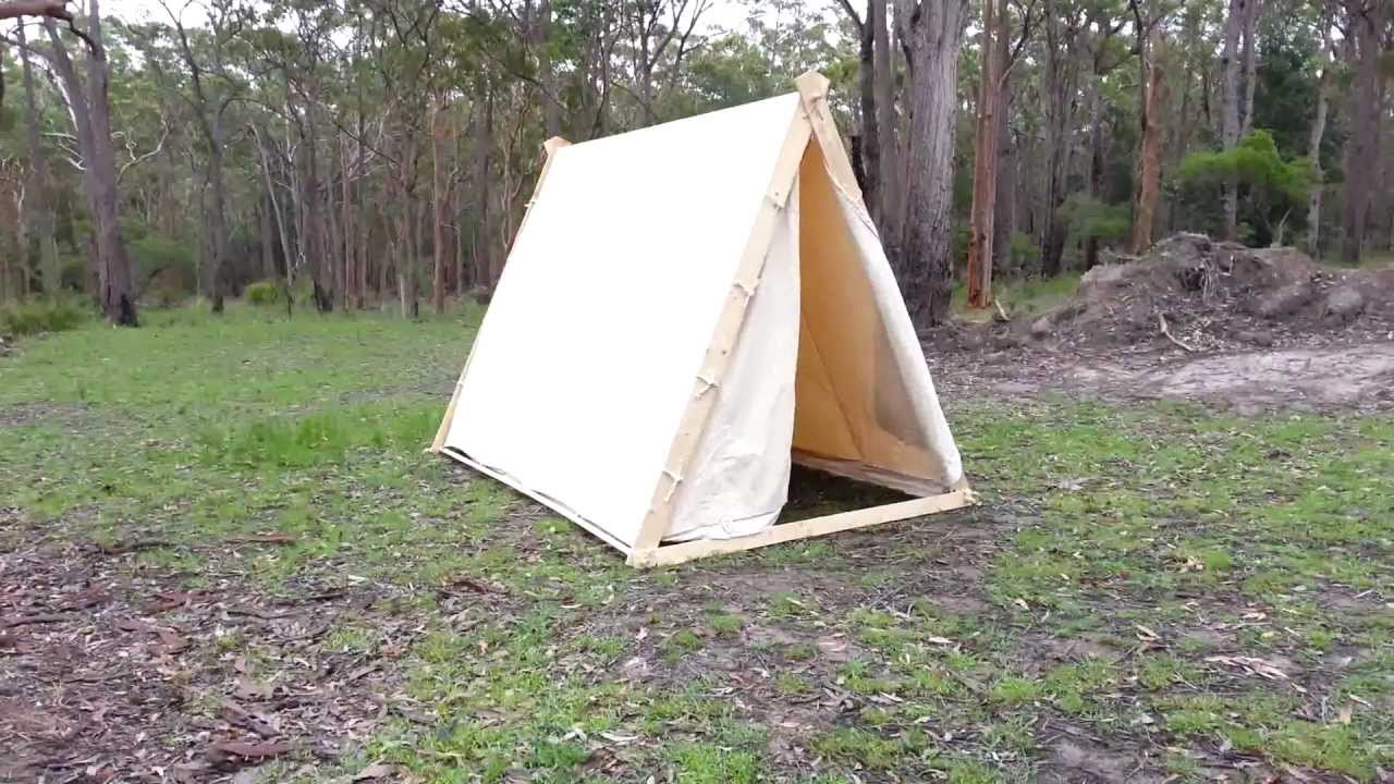 & Viking A-frame Tent - YouTube